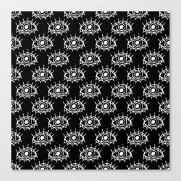 Eye of wisdom pattern - Black & White - Mix & Match with Simplicity of Life Canvas Print