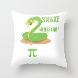 Pi Day Mathematics Teacher Snake Reptile Python Throw Pillow