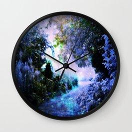 fantasy garden Periwinkle Wall Clock