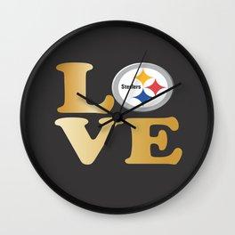 Pittsburgh Steelers_Love Wall Clock