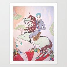 Mint King Art Print