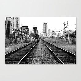 Road to progress Canvas Print