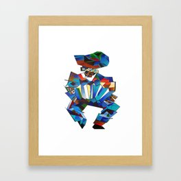 Accordion Player In Cubist Style Framed Art Print