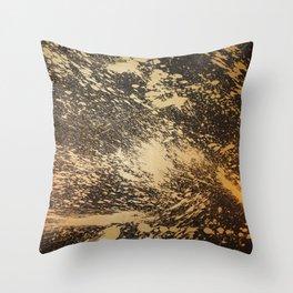 Gold on Black Throw Pillow