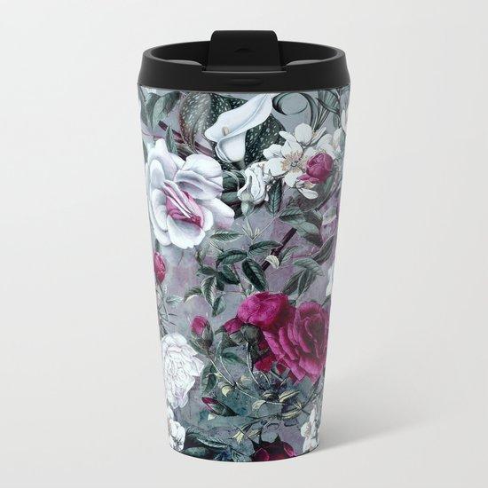 Botanical Flowers Metal Travel Mug