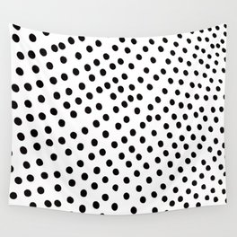 Warped Black Polka Dot Rain Wall Tapestry