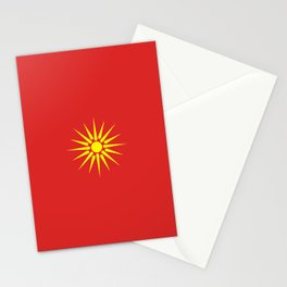 old Macedonia country flag Stationery Cards