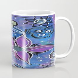 Purple Flowers Background Coffee Mug