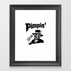 Big Pimpin' Framed Art Print