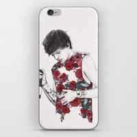 coconutwishes iPhone & iPod Skins featuring Floral Louis by Coconut Wishes