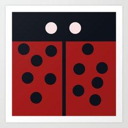 Minimal LadyBug Art Print