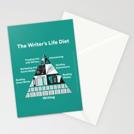 The Writer's Life Diet Stationery Cards
