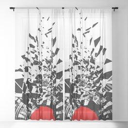 Vinyl shatter Sheer Curtain