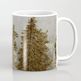 Misty Hills Of Pines And Firtrees Coffee Mug