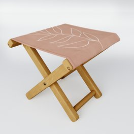 Engraved Leaf Line Folding Stool