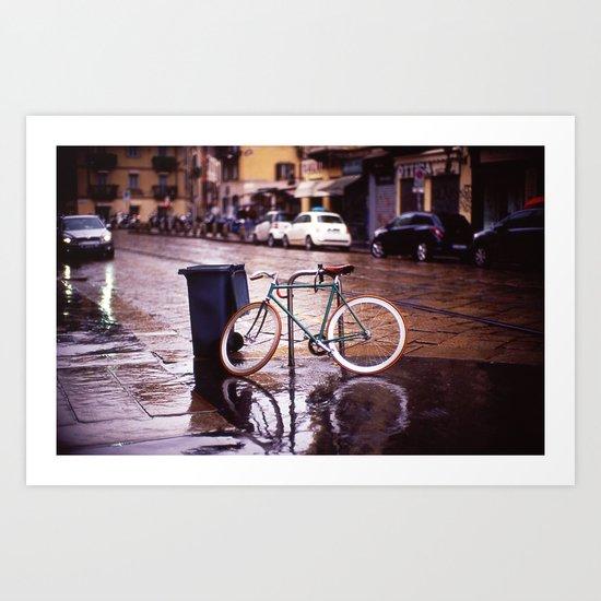 Rainy Milan Art Print