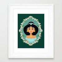 jasmine Framed Art Prints featuring Jasmine by Joey Ellson