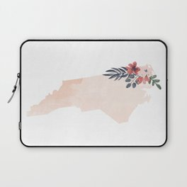 North Carolina Watercolor Floral State Laptop Sleeve