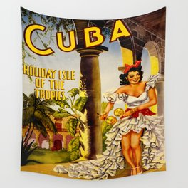 Cuba Holiday Isle of the Tropics Wall Tapestry