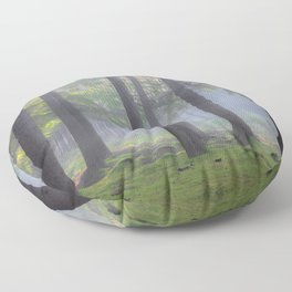 Lights in the forest - Kessock, The Highlands, Scotland Floor Pillow