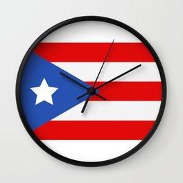 flag puerto rico Wall Clock