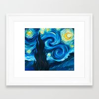 starry night Framed Art Prints featuring Starry Starry Night by Jade Cohen