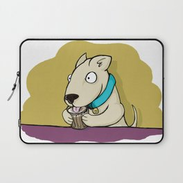 He's Eating Breakfast! Speedy Puppacino To Go, Please. Laptop Sleeve