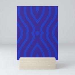 Bluesy Twist Mini Art Print