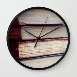 Book Junkie Wall Clock