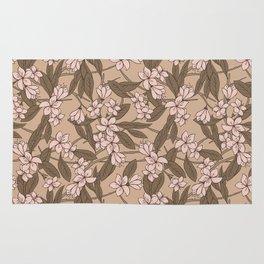 Sakura Branch Pattern - Pale Dogwood + Hazelnut Rug