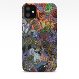 Cryptid Creatures and Mysterious Monsters iPhone Case