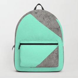 Sea Collage on Concrete Backpack