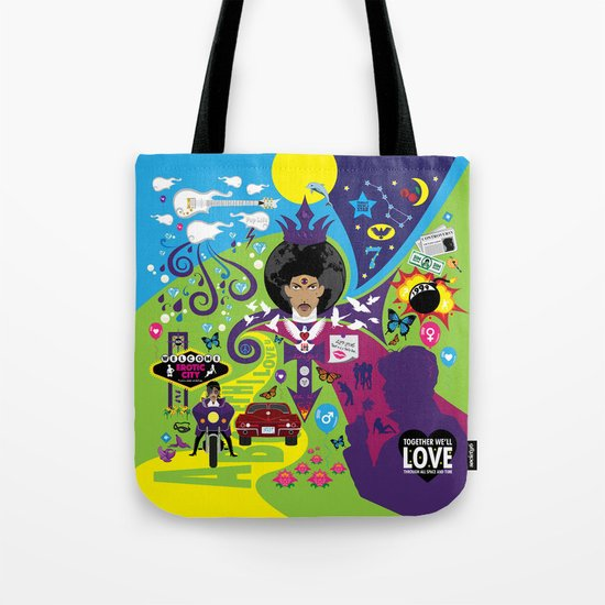 The Emoji-fication of His Purple Majesty: The Full Story Tote Bag