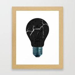 Broken Light Bulb Framed Art Print