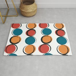 abstract modern pattern background with colorful grunge circles Rug