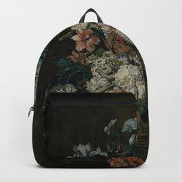 Cornelia Van Der Mijn - Still Life With Flowers Backpack