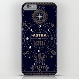 Ad Astra Per Aspera iPhone Case