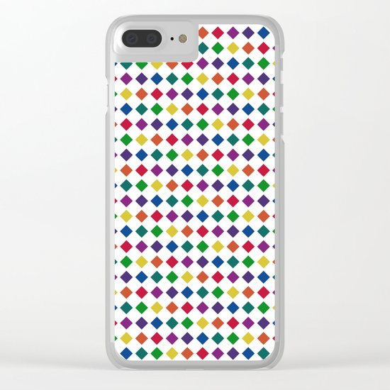 Colorful Seamless Rectangular Geometric Pattern Clear iPhone Case