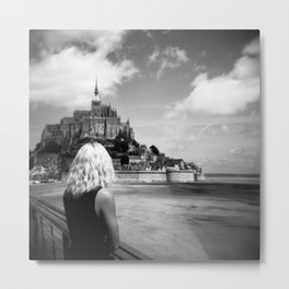 Mont St. Michel   Looking Out Metal Print