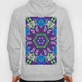 blue flower mandala Hoody