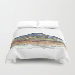 Purple Mountian, New Mexico Duvet Cover