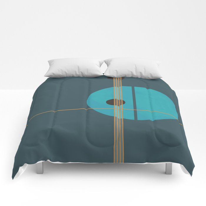 Geometric Abstract Art #4 Comforters