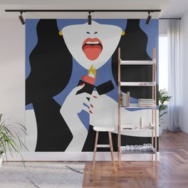 Riot - Woman play with fire Wall Mural