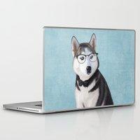 husky Laptop & iPad Skins featuring Mr Husky by Roberta Jean Pharelli
