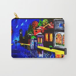 Tardis Phone Both Starry Night Carry-All Pouch