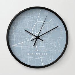 Huntsville Map, USA - Slate Wall Clock