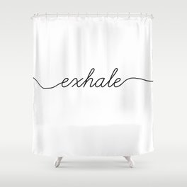 inhale exhale (2 of 2) Shower Curtain