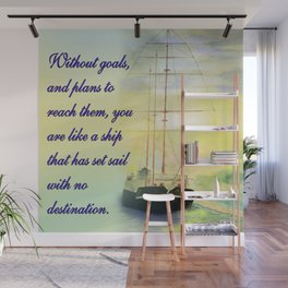 Without goals and plans Wall Mural