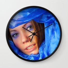 Colour: blue Wall Clock
