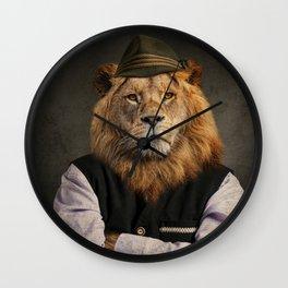 Heraldic Animal - Bavarian Lion Wall Clock